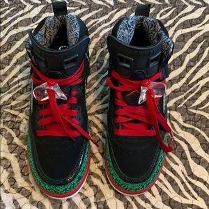 Youth Boy Jordan Red, Green, Black